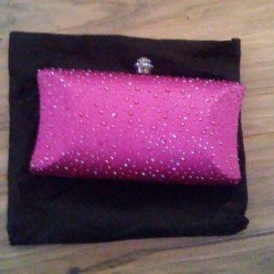 Handbags - Gorgeous Pink Glittery Evening Bag NWT